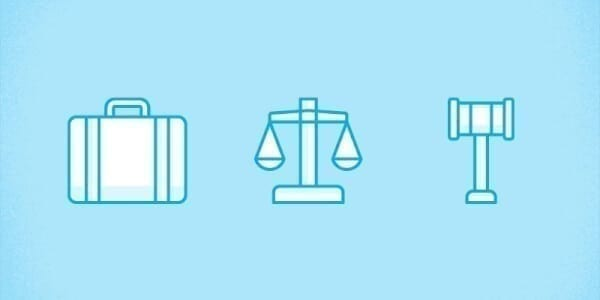lawyer icons simple