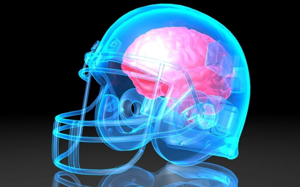 brain concussion football helmet